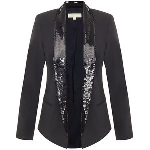 Michael Kors Sequin Collar Blazer - Size 0